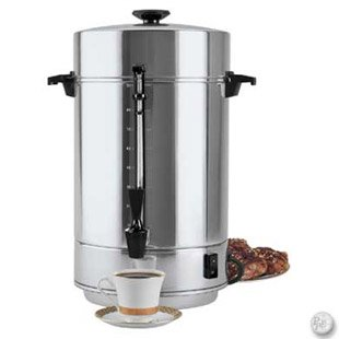 Focus Foodservice 58001R Regalware Commercial Aluminum Coffeemaker with Non-Drip Spigot, 100-Cup