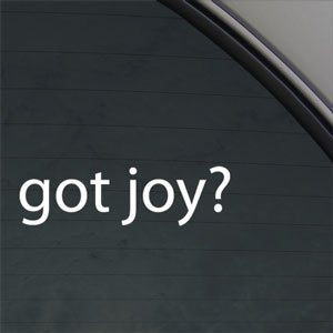 Got Joy? Decal Christian Jesus Church Happiness Sticker