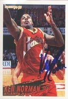 Ken Norman Atlanta Hawks 1995 Fleer Autographed Hand Signed Trading Card. by Hall+of+Fame+Memorabilia
