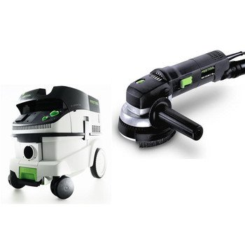 Festool P26570789 Ras 115.04 E 4-1/2 In. Rotary Sander With Ct 26 E 6.9 Gallon Hepa Mobile Dust Extractor front-630740