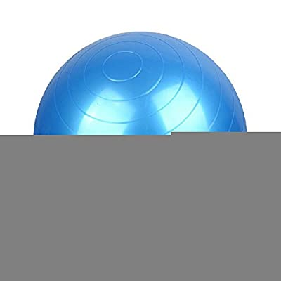 Reehut Exercise Ball - Anti-Burst Gym Ball for Yoga, Pilates & Physical Therapy - Slip-Resistant Stability Balls for Safe, Comfortable In-Home Fitness - Air Pump Included - Eco-Friendly (Grey, 55CM)