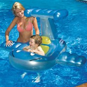 Swimline Puddle Jumper Toddler Seat Inflatable, Blue front-706717