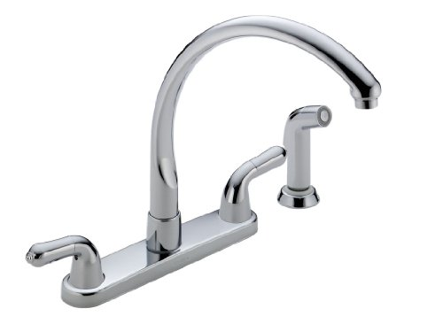 Delta Faucet 2476-LHP Waterfall Kitchen Pull Out Spray Faucet