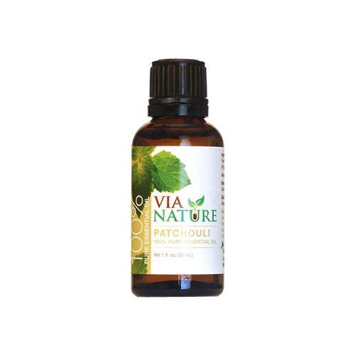 Via Nature 100 Percent Essential Oil, Pure Patchouli, 1 Fluid Ounce
