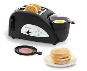 Brand NEW West Bend Muffin Egg Toaster Meat Tray Cooking Machine Sandwich Breakfast Family