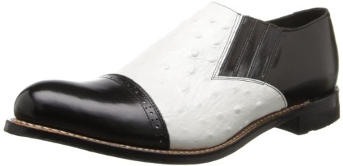Stacy Adams Men's Madison Slip-On Loafer,Black/White,10 D US