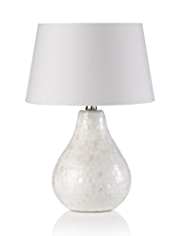 Mother of Pearl Tear Drop Table Lamp