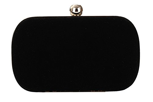 Tina Women's Fashion Evening Cocktail Wedding Party Handbag Clutch Purse Black