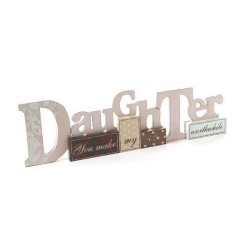 Wooden Daughter Table Top Sign