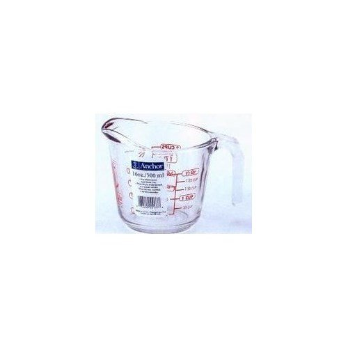 Anchor Oven Proof Glass Open Handle Measuring Cup 16 Oz