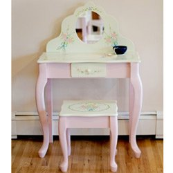 Teamson Children's Vanity Table and Stool - Bouquet