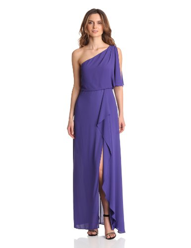 fd606980a1 BCBGMAXAZRIA Women s Kendal One Shoulder Gown With Cascade