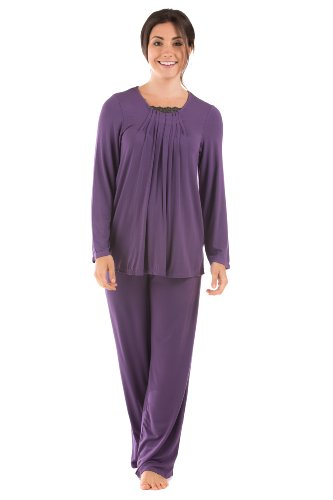 Womens Pajama Sets Eco Clothing Sleepwear Gifts For Women Girlfriend Wife Wb0003-Amt-L front-740873