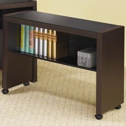 Buy Low Price Comfortable Papineau Computer Cart on Casters by Coaster – Contemporary Cappuccino Finish (B0051PC4GC)