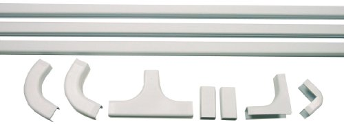 Morris Products 22682 PVC Latching Duct Cable Management Kit, White,  Size, 3/4