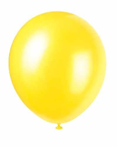 "12"" Latex Balloons Pearlized (Pearl Golden Yellow), 8 ct"