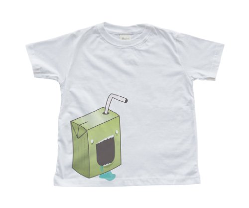 Boy's White Toddler T-Shirt with a Juice Box