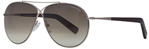 Tom Ford 0374S 28F Gold Eva Aviator Sunglasses Lens Category 2 Lens Mirrored