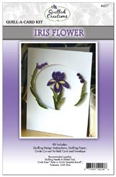 Quilled Creations Quill A Card Kit Iris Flower; 3 Items/Order