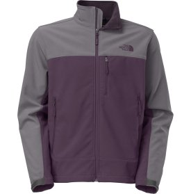 The North Face Apex Bionic Soft Shell Jacket - Men's-Dkeggplantprpl/Vanadisgry-S from The North Face