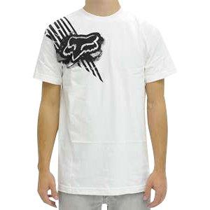 Fox Racing Shear Men's Short-Sleeve Sportswear T-Shirt/Tee - White / Large