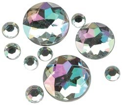 Darice Rhinestone Shapes 22 Grams Aurora Borealis 1076-11; 3 Items/Order