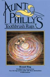 Aunt Philly's Toothbrush Rugs-Round Rug at Amazon.com