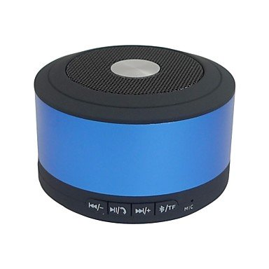 Ty Lwm? Metal Hifi Stereo Beatbox Music Mini Bluetooth Speaker Tf Mp3 Player Handfree , Blue