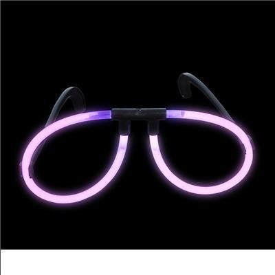Pink Light-Up Glow Stick Glasses (package of 12)