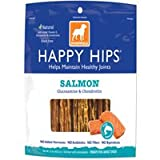 Dogswell Happy Hips Treats for Dogs, Salmon Jerky, 15-Ounce Package