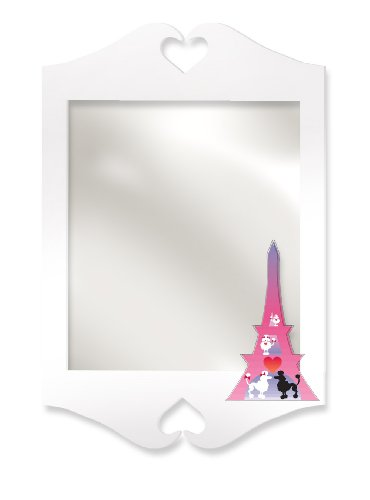 Room Magic RM10-PP Wall Mirror, Poodles In Paris