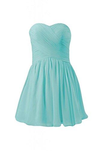 Daisyformals Strapless Chiffon Mini Skirt Cocktail Dress(Bm800N)- Tiffany Blue