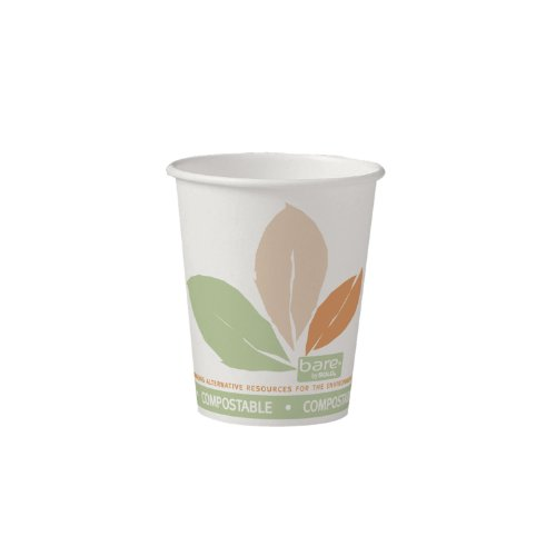 Solo-370PLA-J7234-10-oz-Bare-PLA-Paper-Eco-Forward-Compostable-Hot-Cup-20-Packs-of-50-cups