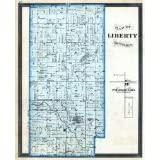 Liberty Township, Pleasantville, Howard County 1877, Indiana, 1877 Fine-Art Reproduction