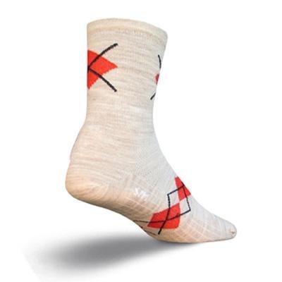 Buy Low Price SockGuy Wool 5in Elite-Tech Oatmeal Argyle Cycling/Running Socks (B002TOILQU)