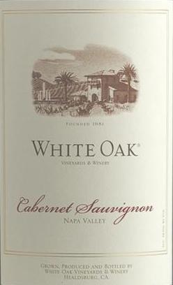 2012 White Oak Napa Valley Cabernet Sauvigon