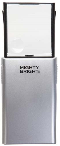 Mighty Bright 86012 Lighted Pop-Up Magnifier, Silver