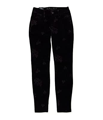 Bullhead Denim Co. Womens Premium Velveteen Floral Skinny Fit Jeans
