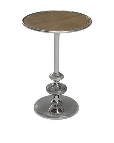 Cooper Classics Cecil Side Table, Silver