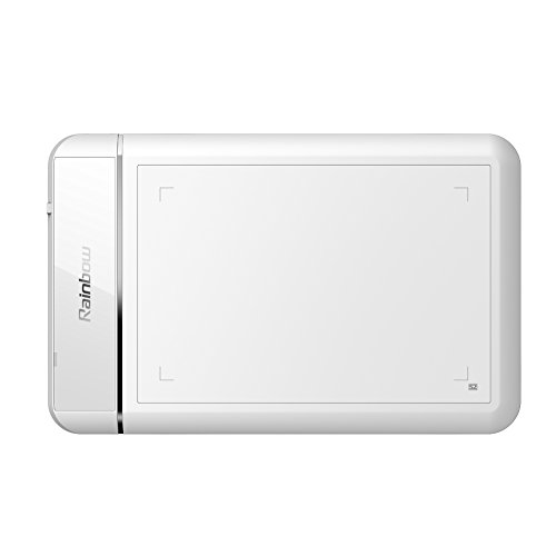 Ugee Cv720 Smart Graphics Drawing Pen Tablet - Rainbow Series (White)