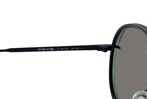 black mirrored aviator sunglasses  p8478d aviator