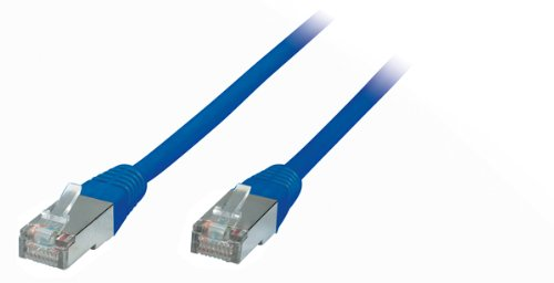 Kabelbude--2m 2,0 m CAT.5e Patchkabel Gigabit Netzwerkkabel LAN Kabel Patch Kabel L&#228;ngenangabe auf dem Kabel, RJ45 Stecker , Cat 5e, Twisted Pair SF/UTP (SFTP) doppelt geschirmt Folie und Geflecht Schirmung 1000 Mbit/s geeignet ideal f&#252;r Switch , DSL Verbindungen , Patchfelder , Patchpanel , Router , Modem , Access Point und andere Ger&#228;te mit RJ45 Anschlu&#223;--blau