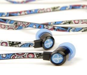ChicBuds Tangle-Free Earbud Headphones, (Blue) Graffiti Design набор головок торцевых ударных глубоких 11 шт jonnesway s03ad4111s