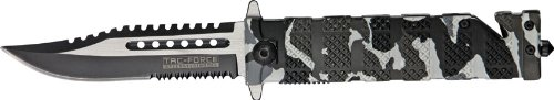 Tac Forece Tf-710 Series Liner Lock Assisted Opening Folding Knife 5-Inch Closed