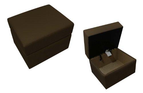 Newco International 01424 Storage Ottoman Chocolate Chenille