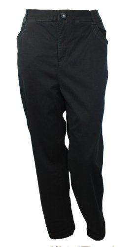 Gloria Vanderbilt Plus Size Cadence Ankle Grazer Pants (Black, 18W)
