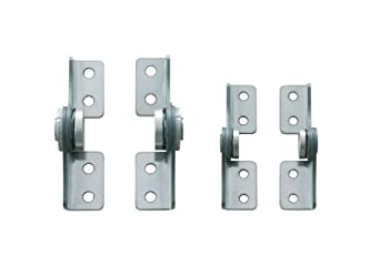 "Friction Hinge, 430 Stainless Steel, 1"" Leaf Height, 2-5/8"" Open Width, 17.7 lbs/in Torque, Left Hand (Pack of 1)"