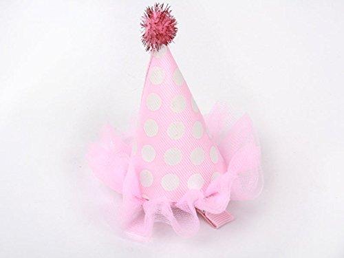 子ども 誕生日 サンタ 帽子 ヘアピン ピンク 可愛いヘアアクセ