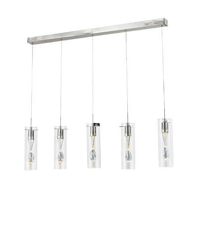 Bel Air Lighting Encased 5-Light LED Pendant Track, Polished Chrome