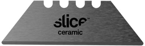 "Slice Industrial 10524 Ceramic Super Safe Utility Replacement Blade, 11/32"" Length X 3.9"" Width X 6.2"" Height, Black (Case Of 6 Packs, 2 Blades Per Pack)"